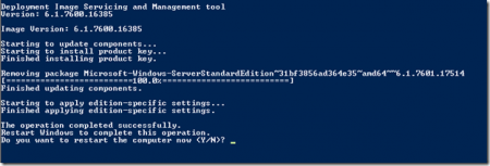 Меняем редакцию Windows Server 2008 r2